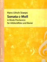 Hans Ulrich Staeps - Sonata c-moll - Altblockflöte u. Klavier - Partition - di-arezzo.fr