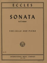 Henry Eccles - Sonata in G Minor - Cello - Sheet Music - di-arezzo.co.uk