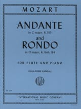 Wolfgang Amadeus Mozart - Andante KV 315 et Rondo KV Anh. 184 - Partition - di-arezzo.fr