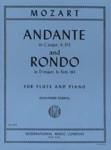 MOZART - Andante KV 315 et Rondo KV Anh. 184 - Partition - di-arezzo.fr