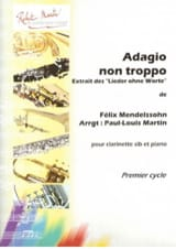 Bartholdy Felix Mendelssohn - Adagio non Troppo - Partition - di-arezzo.fr