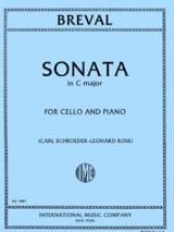 Sonate en do majeur Jean-Baptiste Bréval Partition laflutedepan.com