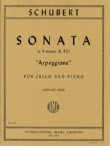 SCHUBERT - Sonata in A Minor D. 821 Arpeggione - Cello - Partition - di-arezzo.fr