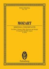 MOZART - Sinfonia Concertante Es-Dur Kv 297b - Partitur - Partition - di-arezzo.fr