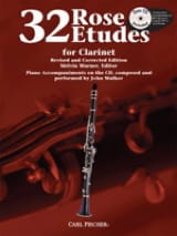 32 Etudes For Clarinet Cyrille Rose Partition laflutedepan.com