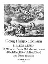TELEMANN - Heldenmusik - 12 Märsche - Sheet Music - di-arezzo.co.uk