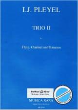 Trio n° 2 -Flute clarinet bassoon Ignaz Pleyel laflutedepan.com