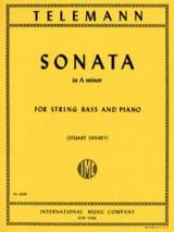 Sonata in A minor - String bass TELEMANN Partition laflutedepan.com