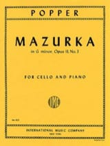 David Popper - Mazurka in G Minor op. 11 n ° 3 - Sheet Music - di-arezzo.com