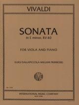 Sonata in E minor RV 40 – Viola - Antonio Vivaldi - laflutedepan.com