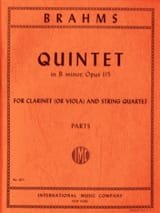 BRAHMS - Quintet in B minor op. 115 - Clarinet or viola string quartet - Parts - Partition - di-arezzo.fr
