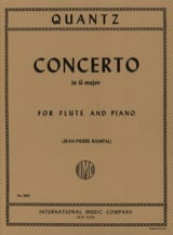 Johann Joachim Quantz - Concerto in G major QV 5: 174 - Piano flute - Sheet Music - di-arezzo.com