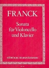 Sonata César Franck Partition Violoncelle - laflutedepan.com