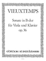 Sonate in B Dur op. 36 Henri Vieuxtemps Partition laflutedepan.com