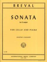 Sonate en SOL Majeur Jean-Baptiste Bréval Partition laflutedepan.com
