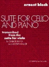 Suite for cello and piano - Ernest Bloch - laflutedepan.com