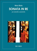 Sonata in Re - Clarinetto e pianoforte Nino Rota laflutedepan.com