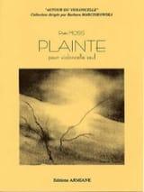 Plainte Piotr Moss Partition Violoncelle - laflutedepan.com