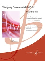 MOZART - Andante three KV 547 - Clarinets - Sheet Music - di-arezzo.com