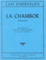 La Chambor - Alto d'Hervelois Louis de Caix Partition laflutedepan.com