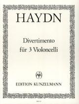 Divertimento für 3 Violoncelli HAYDN Partition laflutedepan