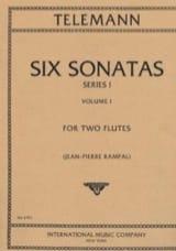 6 Sonatas Serie 1, Volume 1 - 2 Flutes TELEMANN laflutedepan.com