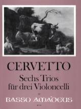 6 Trios - 3 Violoncelles Giacomo Cervetto Partition laflutedepan.com