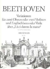 BEETHOVEN - Variationen über The ci darem the mano - 2 Oben Englischhorn - Sheet Music - di-arezzo.co.uk