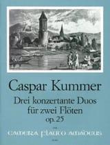Gaspard Kummer - 3 Konzertante Duos op. 25 – 2 Flöten - Partition - di-arezzo.fr