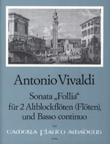 Antonio Vivaldi - Sonata Follia –2 Altblockflöten (Flöten) BC - Partition - di-arezzo.fr