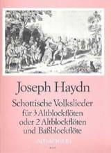 Joseph Haydn - Schottische Volkslieder - 3 Flûtes à Bec - Partition - di-arezzo.fr