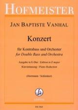 Johann Baptist Vanhal - Konzert in E Dur - Kontrabass - Partition - di-arezzo.fr