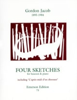 Four Sketches - Gordon Jacob - Partition - Basson - laflutedepan.com