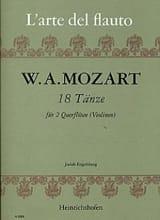 18 Tänze - 2 Flöten Violinen) MOZART Partition laflutedepan.com