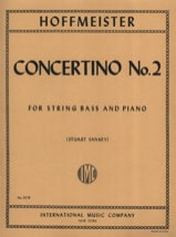 Franz Anton Hoffmeister - Concertino n° 2 - String bass - Partition - di-arezzo.fr
