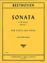 BEETHOVEN - Sonata in Bb major - Flute piano - Partition - di-arezzo.fr