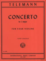 TELEMANN - Concerto In C Major For 4 Violins Twv40: 203 - Sheet Music - di-arezzo.com