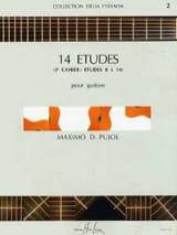 Maximo Diego Pujol - 14 Etudes - 2nd Book - Guitar - Sheet Music - di-arezzo.co.uk