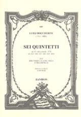 BOCCHERINI - Sei quintetti op. 19 G. 425-430 - Partition - di-arezzo.fr
