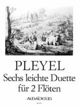 6 Leichte Duette - 2 Flöten Ignaz Pleyel Partition laflutedepan.com