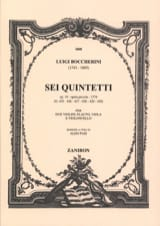6 Quintetti, Op. 19 G425-430 - Parties BOCCHERINI laflutedepan.com