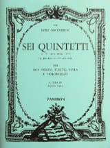 6 Quintetti, Op. 17 G.419/424 - Parties BOCCHERINI laflutedepan.com