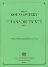 Serge Koussevitzky - Sad song op. 2 - Sheet Music - di-arezzo.com