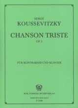 Serge Koussevitzky - Sad song op. 2 - Sheet Music - di-arezzo.co.uk