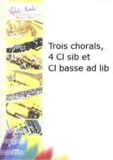 BACH - Trois chorals - quatuor clarinettes - Partition - di-arezzo.fr