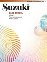 Suzuki - Bass School – Piano Accomp. Volume 1 - Partition - di-arezzo.fr