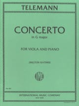 TELEMANN - Concerto in G major - Viola - Sheet Music - di-arezzo.co.uk
