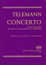 TELEMANN - Concerto in Sol Maggiore - Viola - Partition - di-arezzo.fr