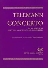 Concerto in Sol Maggiore - Viola TELEMANN Partition laflutedepan.com