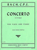 Carl Philipp Emanuel Bach - Concerto in G major Wq 169 - Flute piano - Partition - di-arezzo.fr